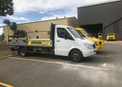 The Simpson Signs delivery and installation truck